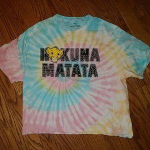 Disney Lion King tie dye crop top M